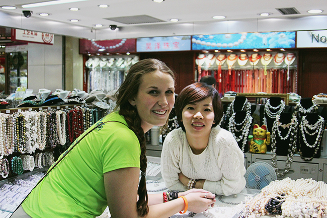 ILP Volunteer shopping in Beijing