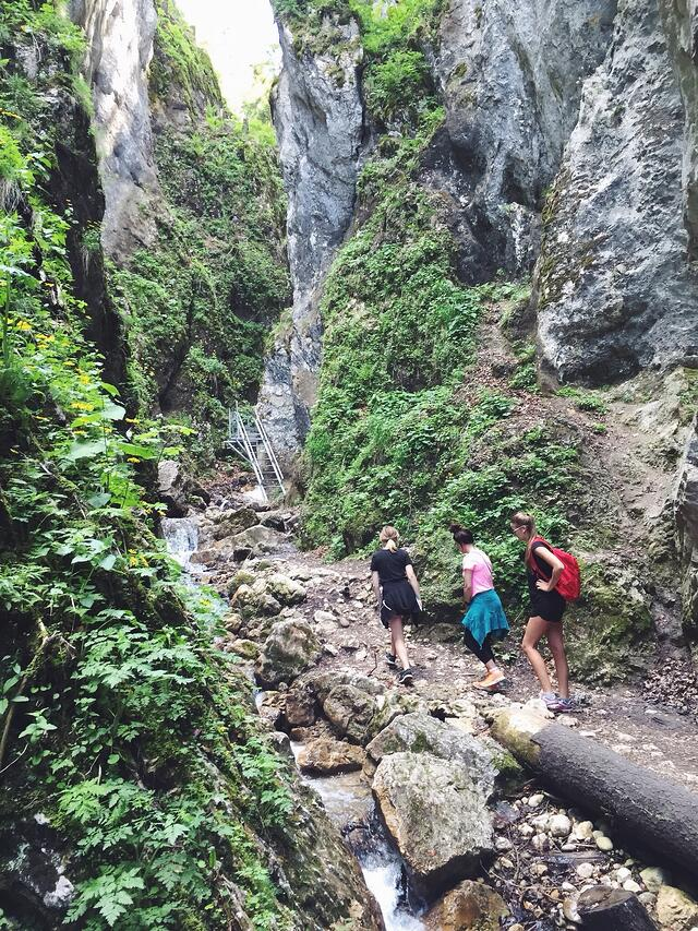 ILP Volunteers hiking in Europe