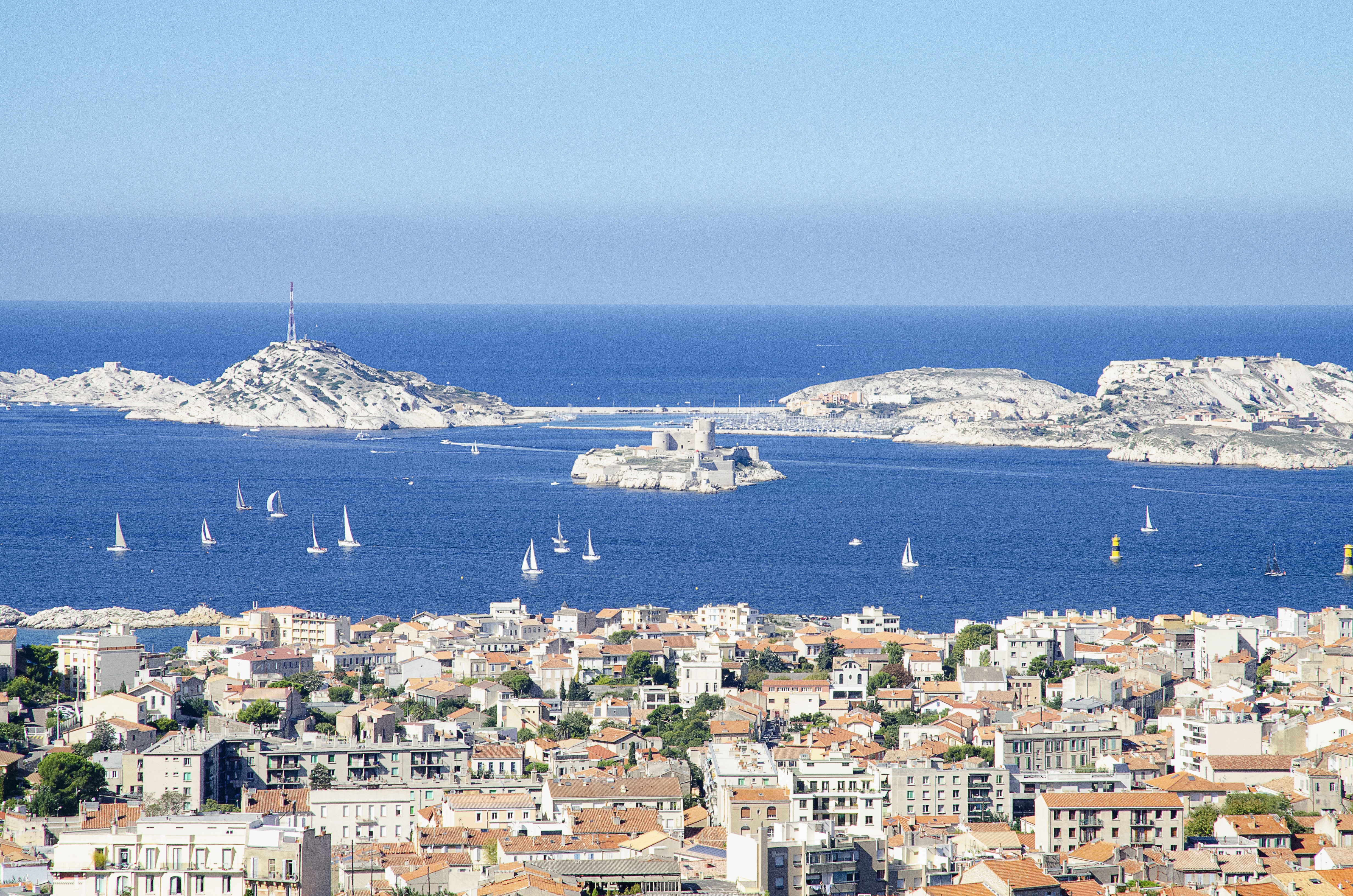 Panoramic view of Chateau d'If, Marseille