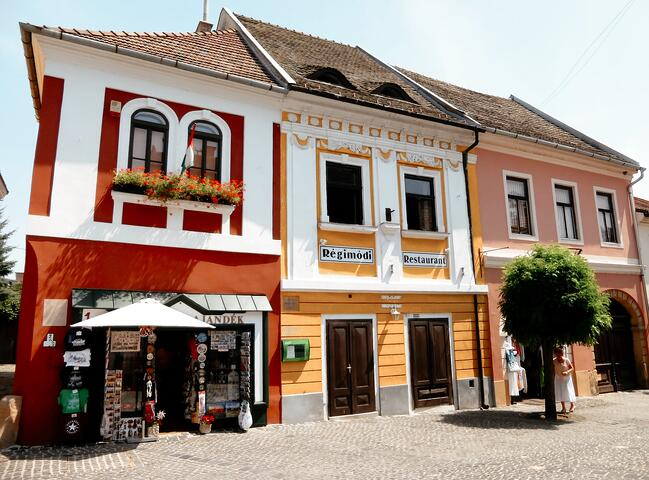 Colorful buildings in Szentendre, Hungary