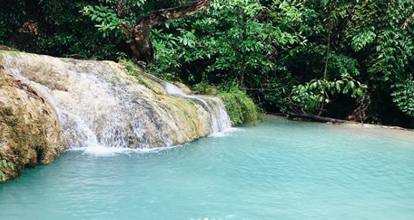 Thailand Waterfalls in Erawan Park