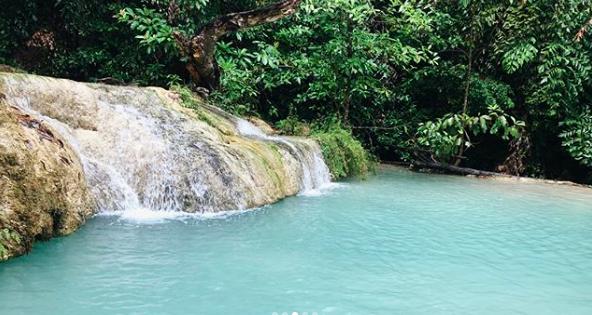 Thailand Waterfalls in Erawan Park