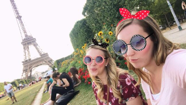 Picnic by Eiffel Tower