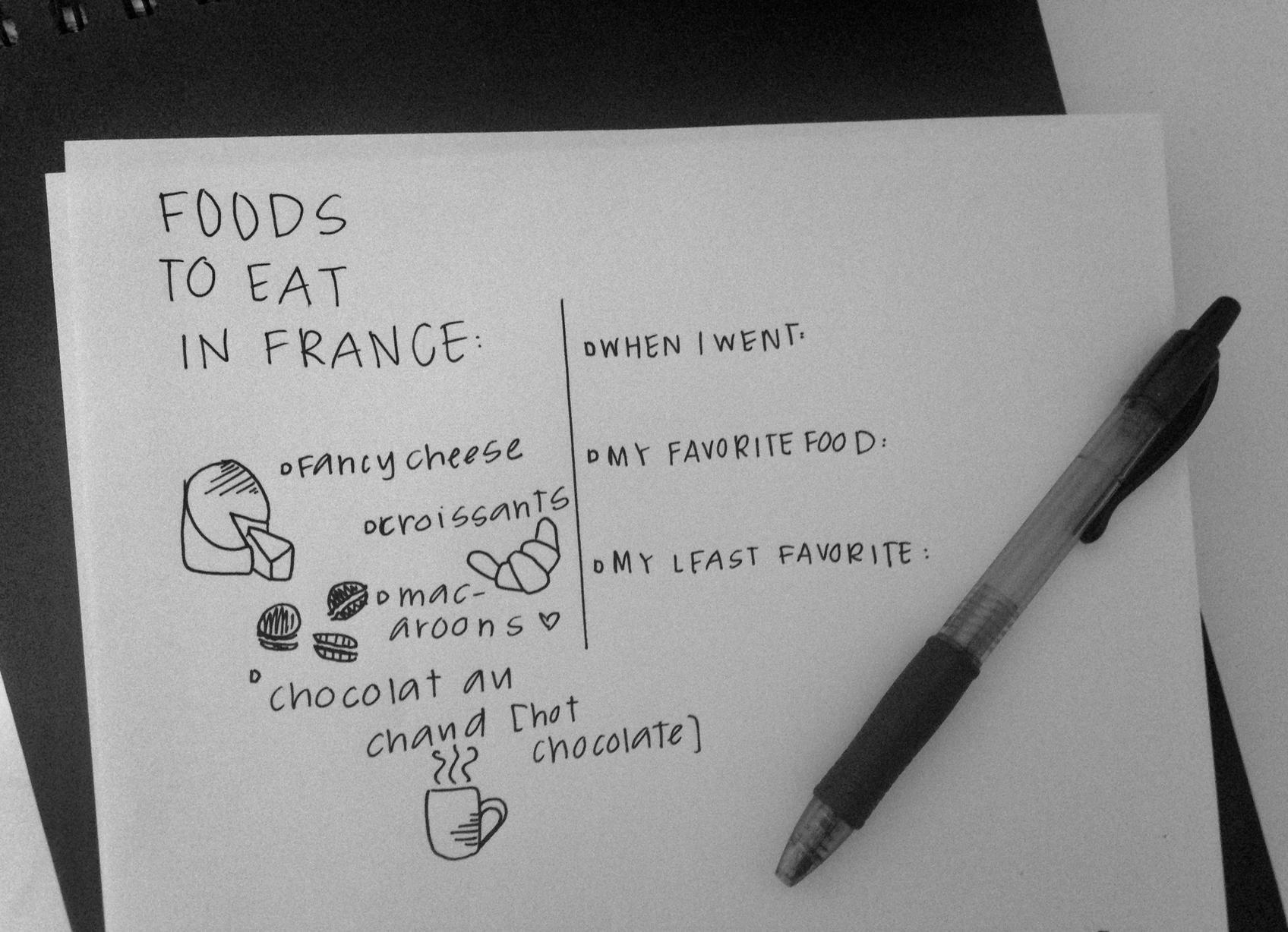 Paris France Doodle