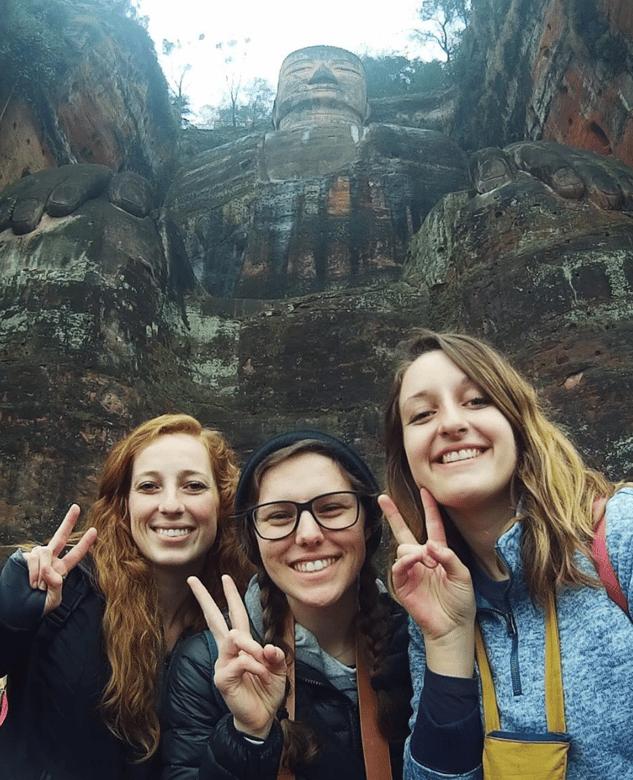 Leshan China Buddha with ILP China Volunteers