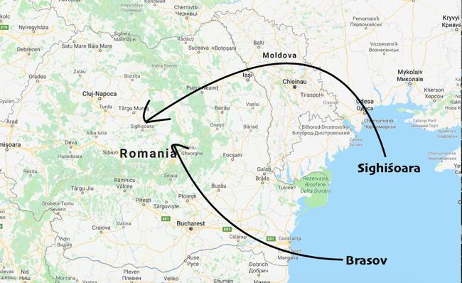 ILP Romania - Map