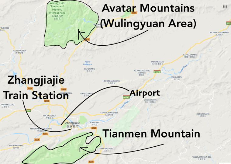 ILP China - Zhangjiajie Map