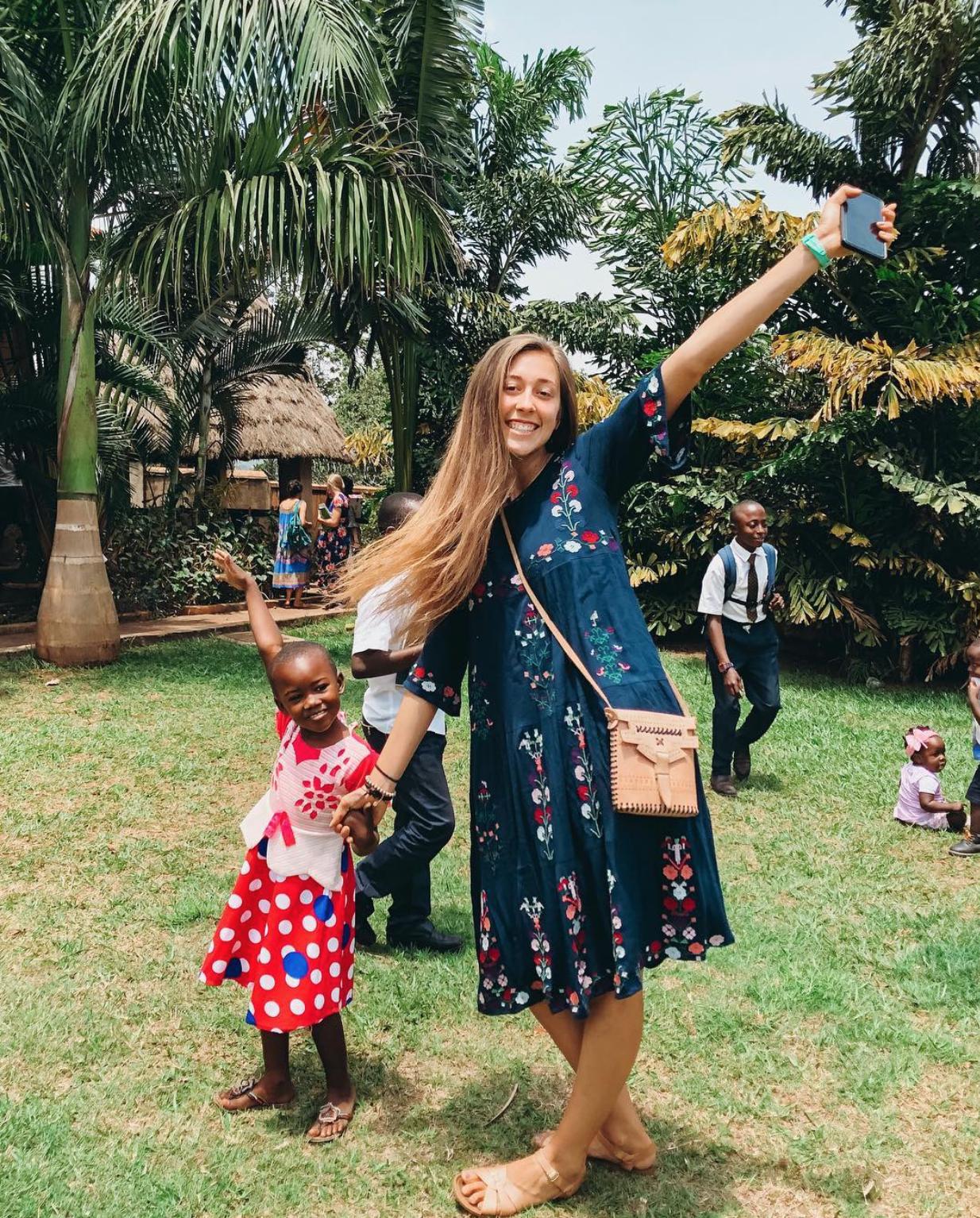 LDS volunteer in Africa
