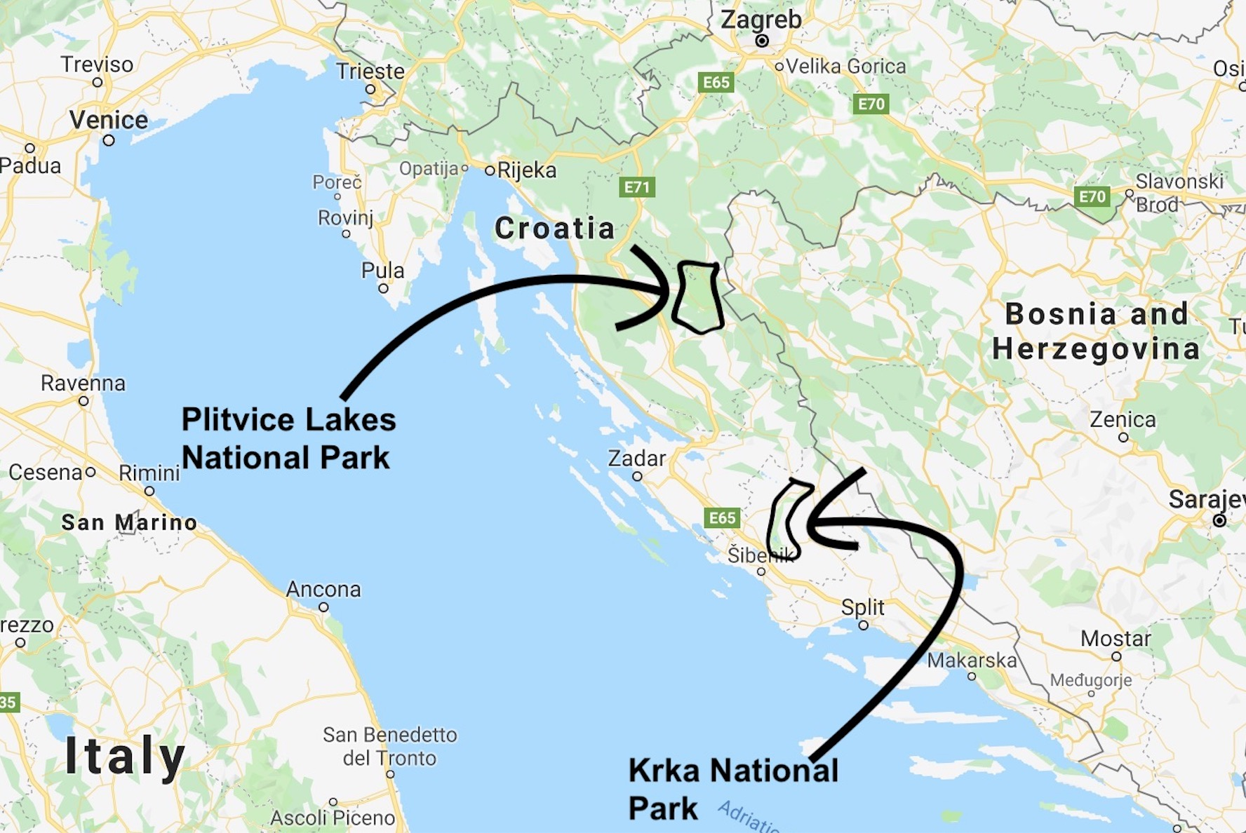 ILP Europe - Croatia National Parks