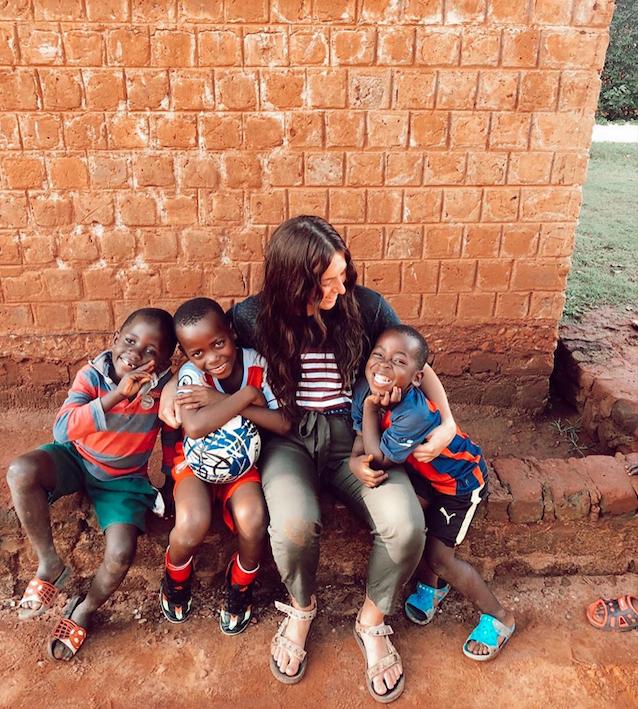 Teaching kids English in Uganda, Africa