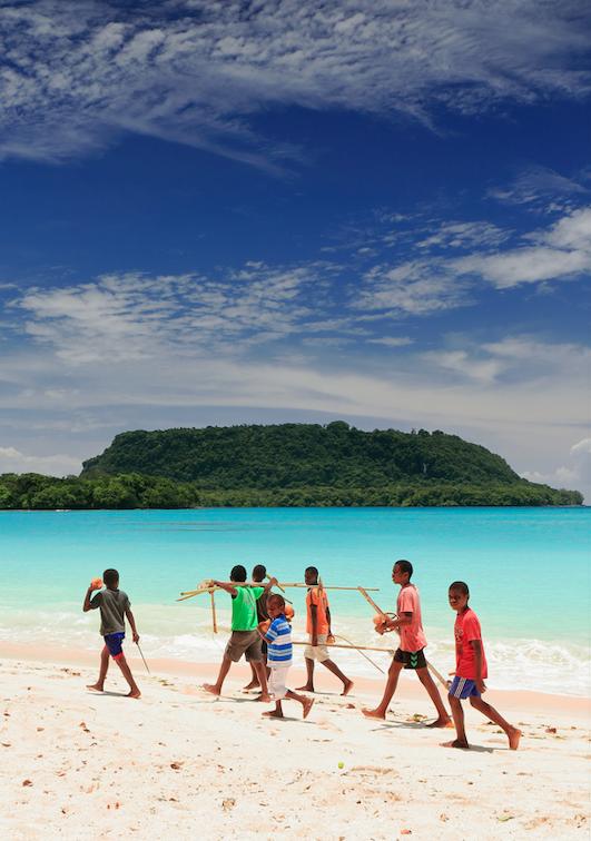 Teach kids English in Vanuatu