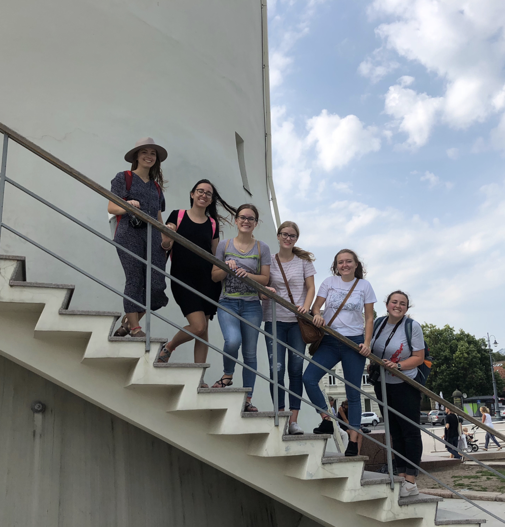 group of american teachers in lithuania