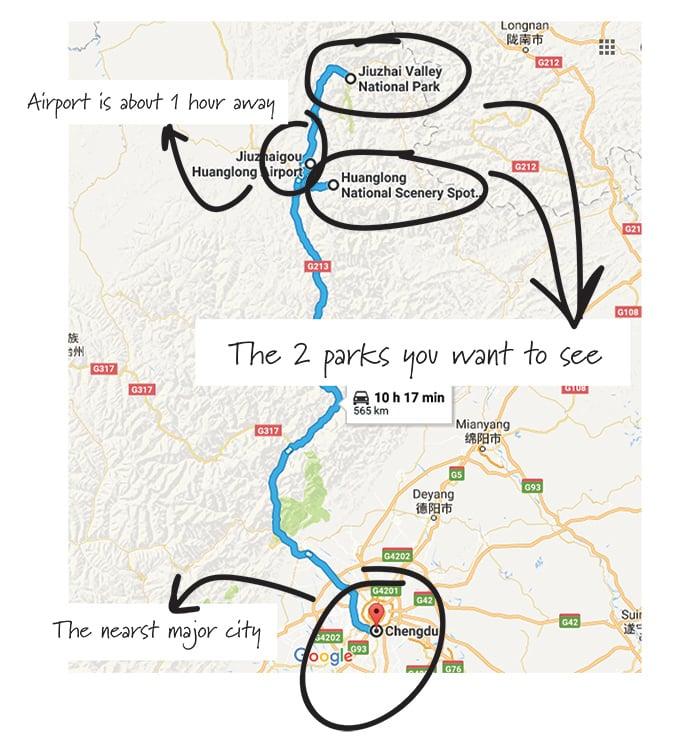 Huanglong Park Map