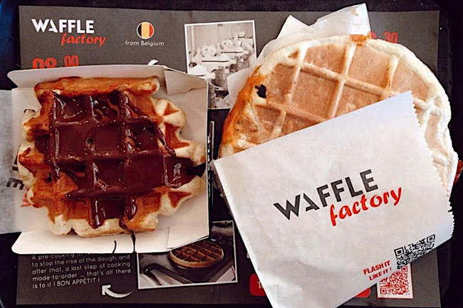 waffles in Brussels
