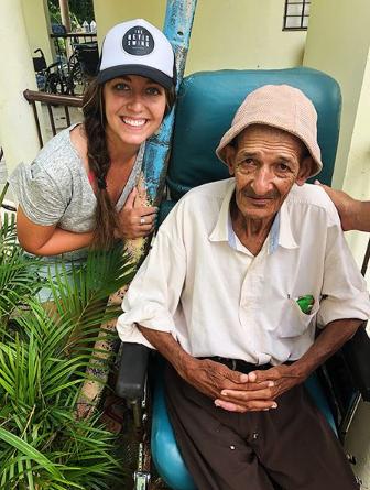 volunteering in a nursing home