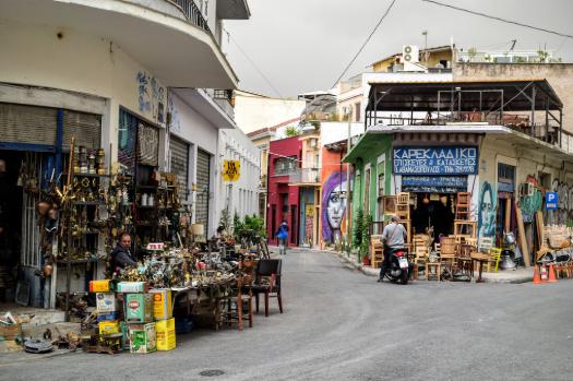 market in greece