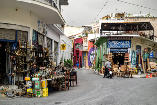 market in greece