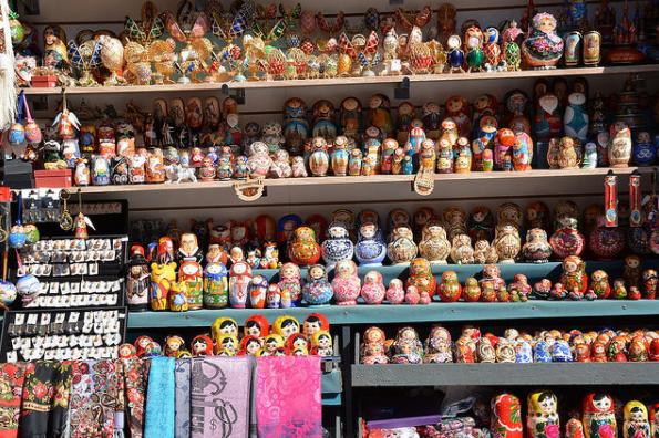 Souvenirs in Russia